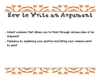 How to Write and Argument