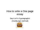 How to Write and Plan a One Page Essay (Comparison to a Ha