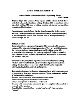 How to Write in Middle School - The 6th Grade Informational Essay