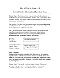 How to Write in Middle School - The 7th Grade Informational Essay