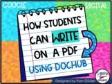 How to Write on a PDF Using Dochub