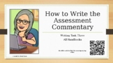 How to Write the Assessment Commentary of the edTPA