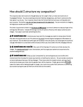BC Provincial Exam - How to Write the Original Composition