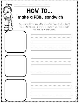 Sequence Writing Activities (How to) K-1