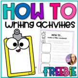 How to (Sequence) Writing Activities K-1