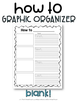 How-to Writing Blank Graphic Organizer
