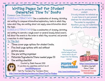 """How to"" Writing Book Pages"
