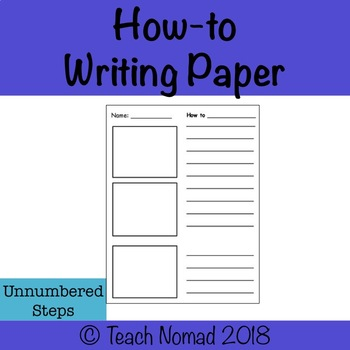 How-to Writing Paper Unnumbered Steps
