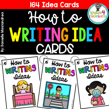 How to Writing- Picture Prompt Cards {164 Idea Cards}