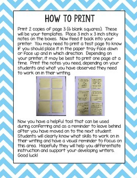 How-to Writing Printable Sticky Notes
