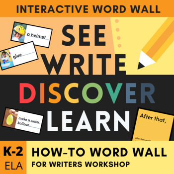 How-to Writers Workshop Toolkit - Visual Word Wall and More!