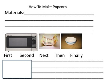 How to Writing (pour milk, walk a dog, make popcorn)