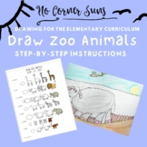How to draw Zoo Animals- Step-by-Step Elementary Art Drawing