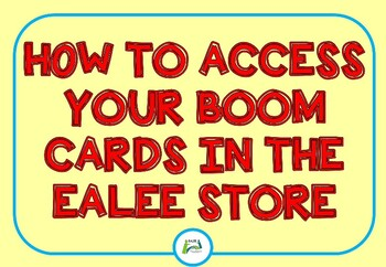 How to access Boom Task cards when purchased from the EALEE store
