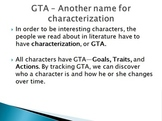 How to analyze a character: Goals, Traits, and Actions