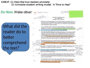 How to annotate a writing sample