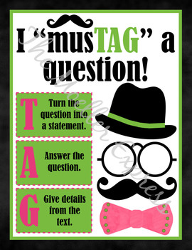How to answer a question, poster, printable - Constructive Response