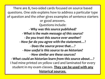 How to answer different document based questions in History. (DBQ)