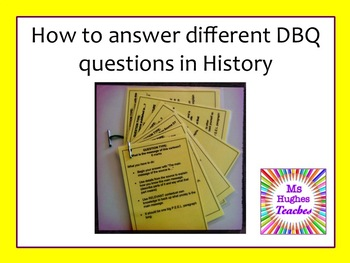 How to answer different document based questions in Histor
