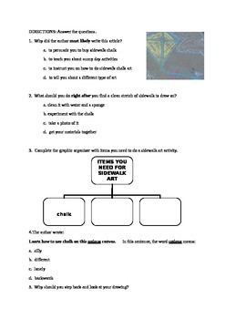 How to article with comprehension questions- good test prep!
