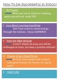 How to be Successful in School (Printout)