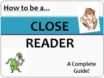 Close Reading Common Core Interactive PowerPoint Presentation