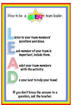 How to be a Great Team Leader Poster