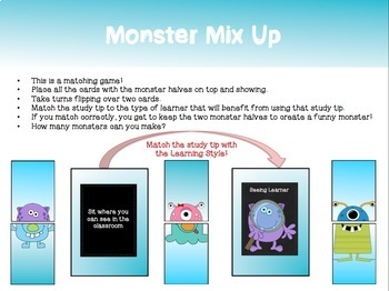 "How to be a Mon""STAR"" Student: Learning Styles Monster Guidance Lesson"