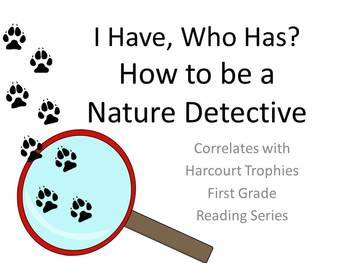 "How to be a Nature Detective ""I HAVE, WHO HAS?"" for Harcourt Trophies"