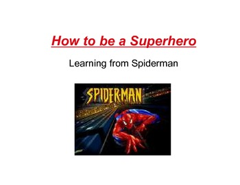 How to be a Super Hero
