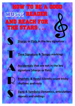 How to be a good Music reader and reach for the STARS...