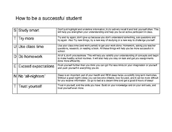 How to be a successful student 2