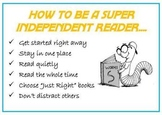 How to be a super independent reader poster