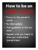 How to be an Active Listener Poster