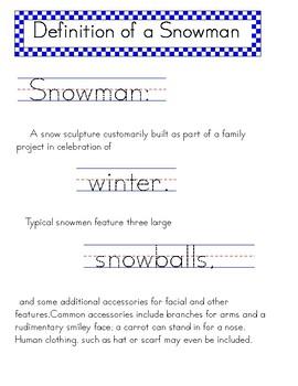 How to build a Snowman MANUSCRIPT (Zaner-Bloser)