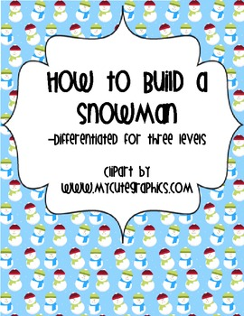How to build a Snowman - Winter Writing Activity