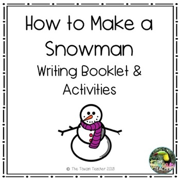 How to build a Snowman Writing Booklet & Activities - dollar deal!