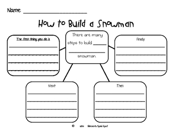 How to build a snowman winter paragraph writing prompt