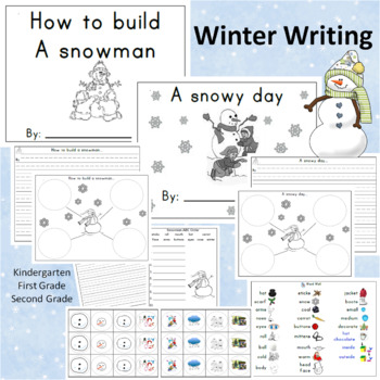 Winter Writing Activities Snowman and Snowy Day