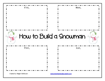 How to build a snowman writing graphic organizer