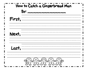 How to catch a gingerbread man sequencing