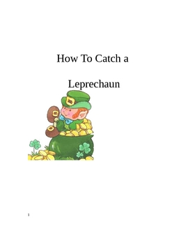 How to catch a leprechaun, science experiment