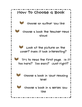 How to choose a book--Debbie Diller