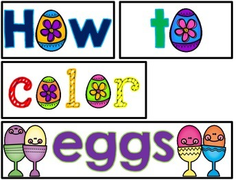 How to color eggs! (A how-to writing sampler FREEBIE!)