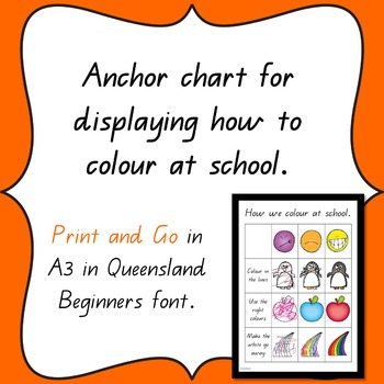 How to colour in at school anchor chart.