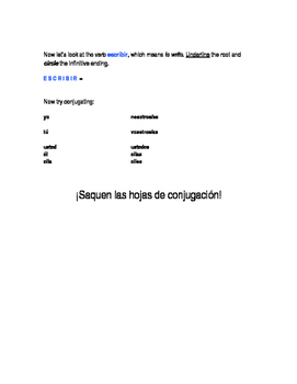 How to conjugate -ER and -IR verbs