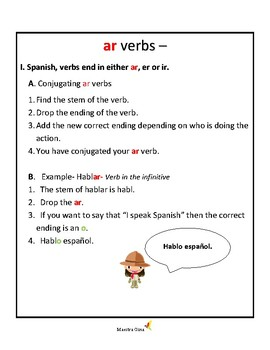 How to conjugate ar verbs in the present tense.  Easy steps