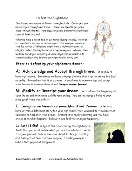 How to conquer the nightmares