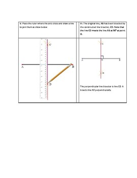 Geometric Construction: How to construct a perpendicular line bisector