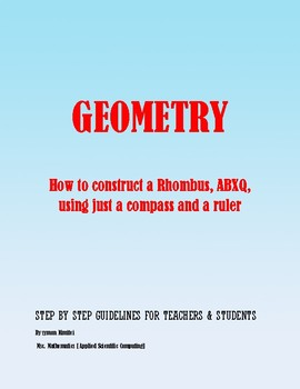 Geometric Construction: How to construct a rhombus